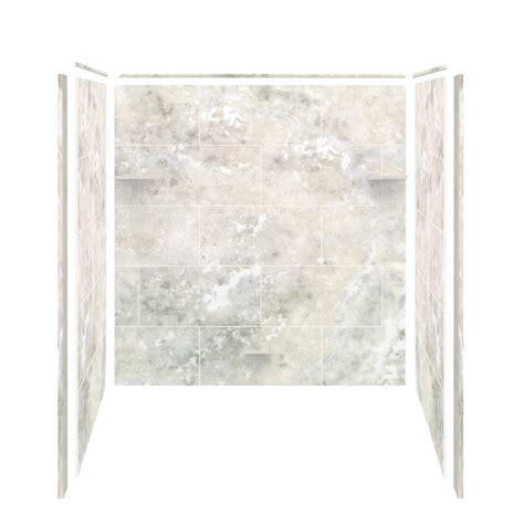 Bathtub Shower Kit samson solid surface three panel shower wall kit silver