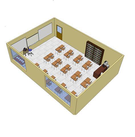 Create A House Floor Plan Online Free 3d sketchup school classroom layout cadblocksfree cad