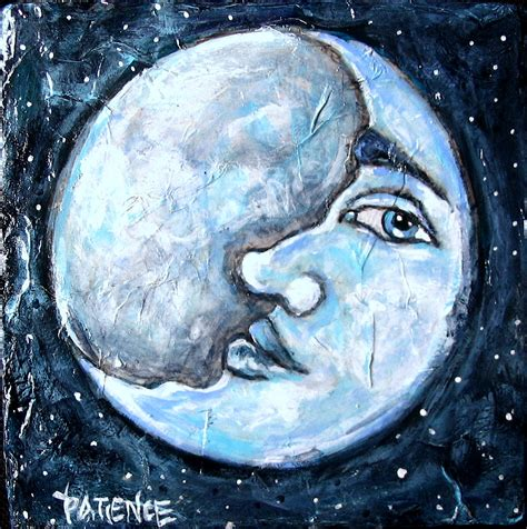 acrylic painting moon of patience day 11 of the 29 faces may challenge