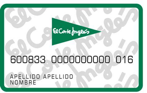 tarjetas de fidelizaci 243 n tarjeta el corte ingl 233 s - Tarjeta De Compras Del Corte Ingles