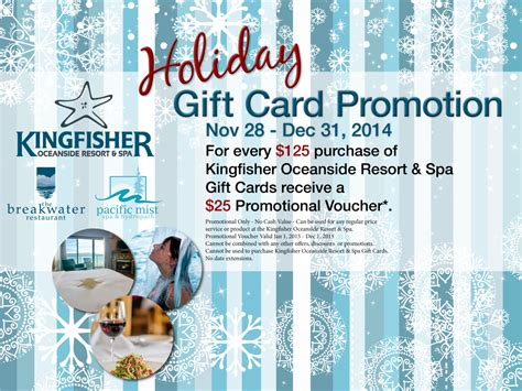 gift specials kingfisher gift certificates kingfisher