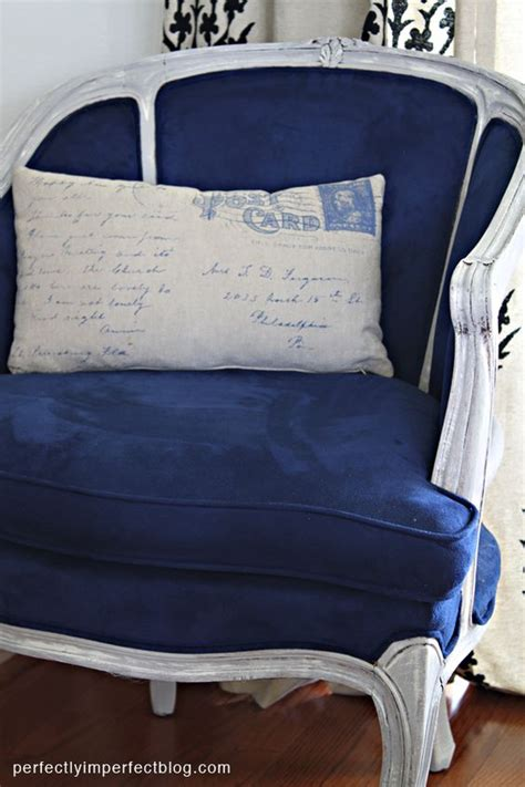 chalk paint velvet chair a chair makeover blue chairs shabby chic and