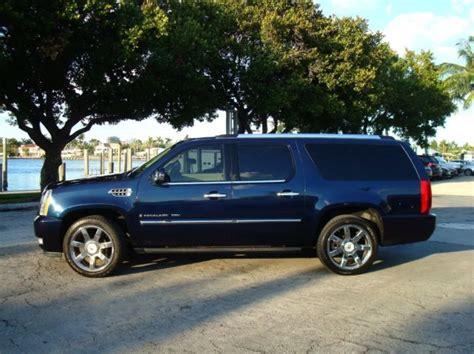 Cadillac Escalade Blue by 2007 Cadillac Escalade Esv Awd Premium Loaded Navy