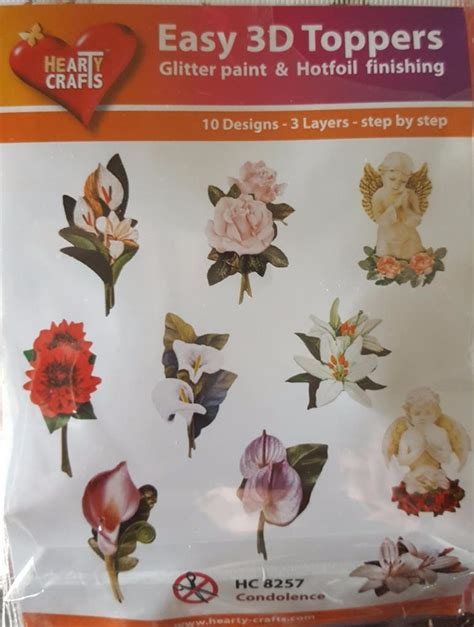 3d die cuts card easy 3d die cut card toppers flowers orchids water lillies