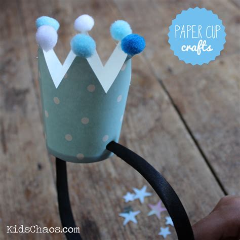 paper cup crafts for paper cup crown diy crafts