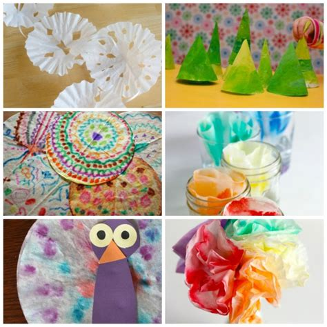 coffee filter paper crafts 24 coffee filter crafts to make make and takes