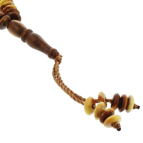 counting rosary 99 count brown and yellow islamic rosary prayer