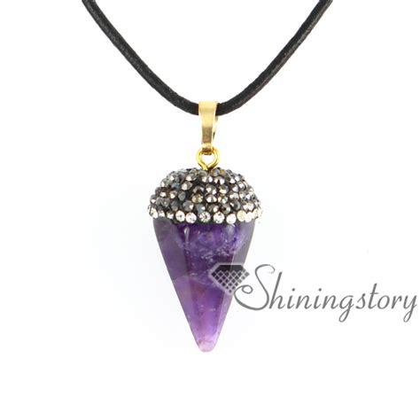 semi precious stones for jewelry six pyramid birthstone necklaces semi precious