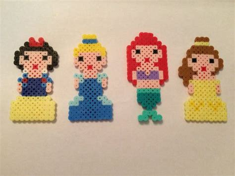 perler bead disney disney princess ariel cinderella snow white