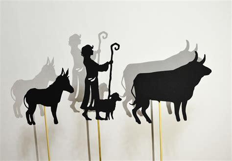 manger set nativity shadow puppet set