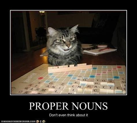 can you use proper nouns in scrabble related keywords suggestions for scrabble cat