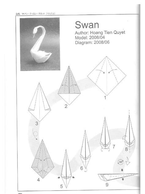 origami swan pdf swan hoang tien quyet