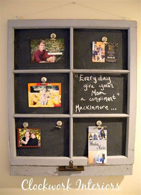 chalkboard paint magnetic transforming an window frame into a magnetic