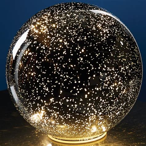 large lighted balls lighted mercury glass sphere silver at signals hr3416