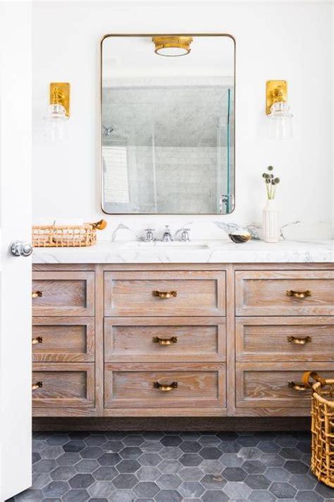bathroom mixed metals interior design inspiration photos by tharon design