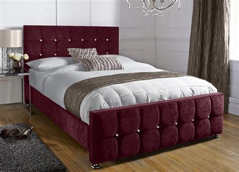 what is bed chenille aubergine superking barcelona bed handcrafted in
