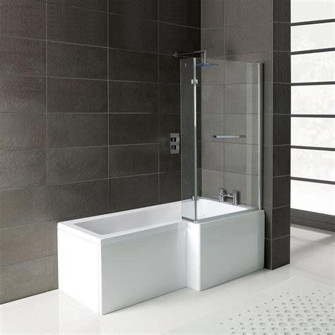 right shower bath leda l shape right shower bath 1700 x 850