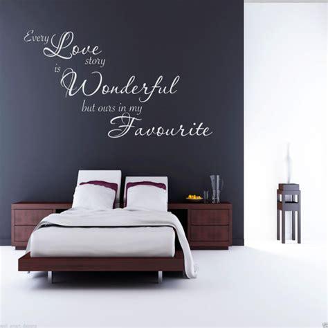 Wall Sticker Design scritte decorative in camera da letto ecco 20 idee