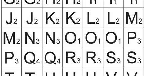 scrabble letter tiles template 15 best images of printable scrabble tiles worksheet