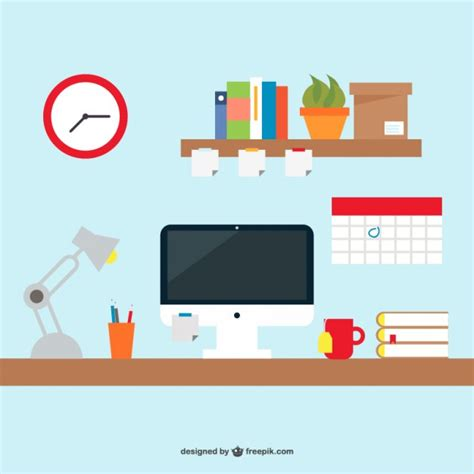 free office desks free office desk simple design vector free vector