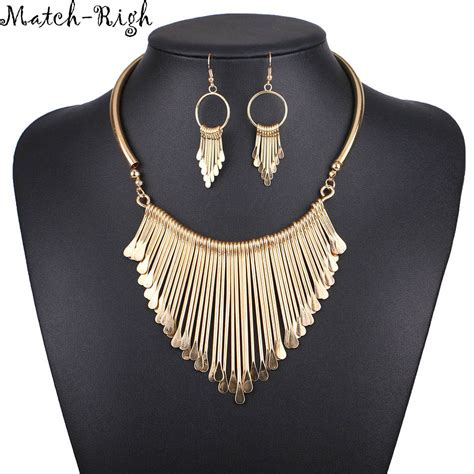 accessories for jewelry necklace alloy statement necklaces pendants tassel