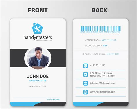 how to make company id cards business card and id card design freelancer