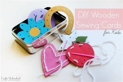 sewing crafts for sewing projects for wooden sewing cards tutorial