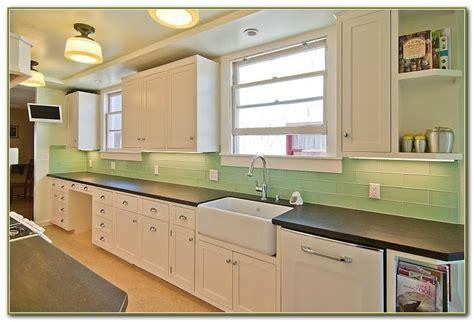 green glass subway tile backsplash green subway tile backsplash kitchen tiles home