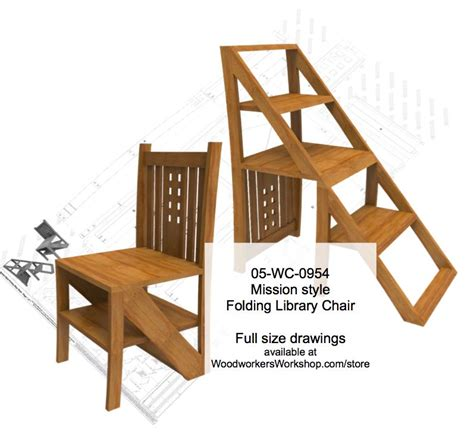 mission style woodworking plans 05 wc 0954 mission style folding step chair woodworking