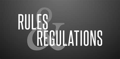 and regulations regulations