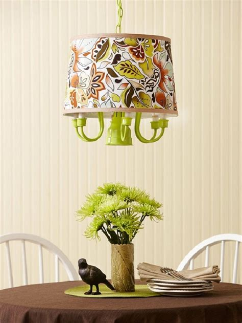 diy chandelier shades lime green diy chandelier with fabric l shade decoist