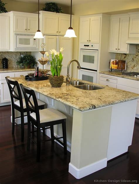 white kitchen island breakfast bar pictures of kitchens traditional white kitchen cabinets