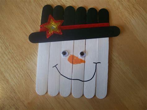 kid crafts with popsicle sticks popsicle stick frosty allfreeholidaycrafts