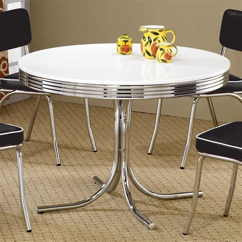 retro dining tables and chairs shop coaster furniture retro dining table at