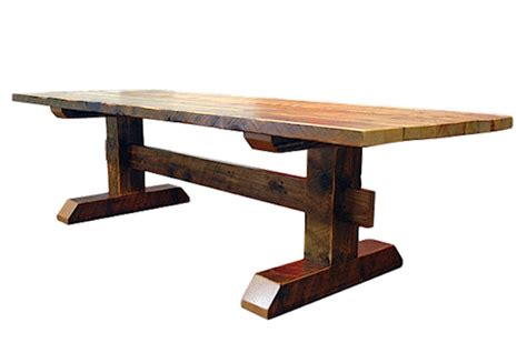 timber dining table reclaimed timber trestle table rustic dining tables