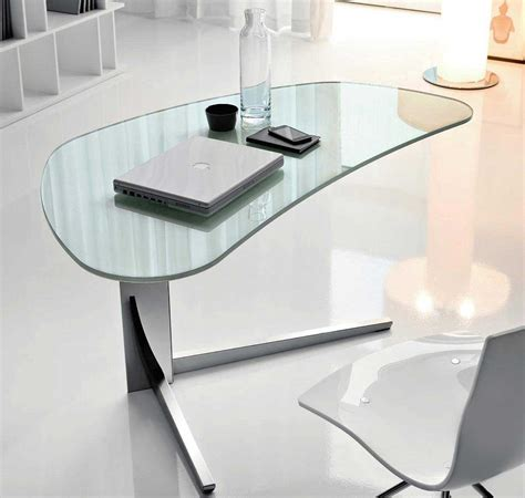 glass modern desk modern glass desks for work