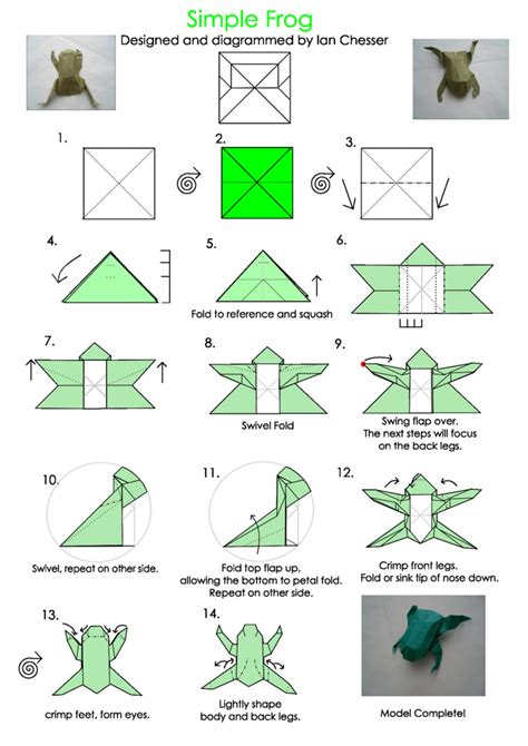 origami frog template best photos of origami templates to print easy origami