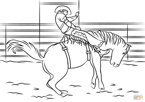 rodeo bull riding coloring pages coloring pages