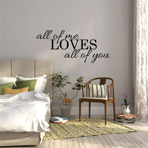 cheap wall stickers for bedrooms all of me all of you wall sticker bedroom wall decal