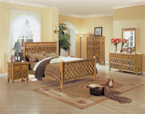 wicker rattan bedroom furniture tahiti all wicker and rattan bedroom 4 pc set