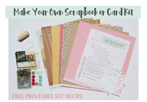 make your own card kits make your own scrapbook or card kit bits pieces paper lab
