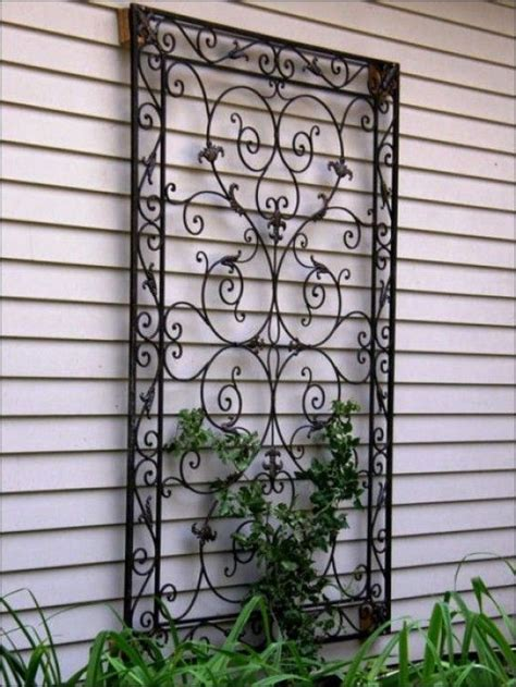 garden wall decor wrought iron mediterranean patios pergolas stucco terraces water
