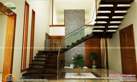 staircase designs staircase bedroom dining interiors kerala home design