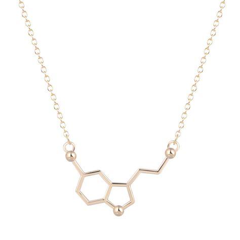 unique for jewelry new 1pcs serotonin molecule chemistry necklace unique