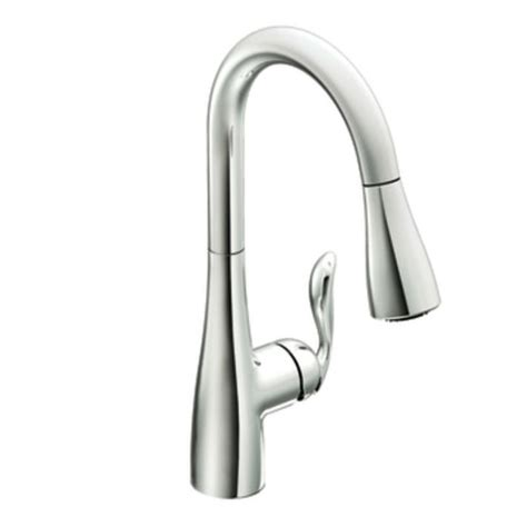 moen single handle kitchen faucet moen 7594c arbor single handle high arc pulldown kitchen faucet chrome faucetdepot