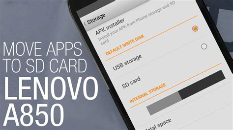 how to make apps to sd card lenovo a850 how to move apps to sd card and free space