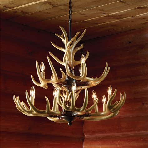 deer horn chandeliers deer antler chandelier the next best thing to mounting your own 12 point rack www kotulas
