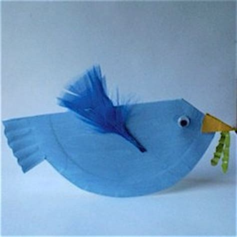bird paper plate craft paper plate bluebird family crafts
