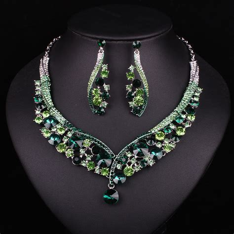 jewelry accessories fashion indian jewellery green necklace earrings