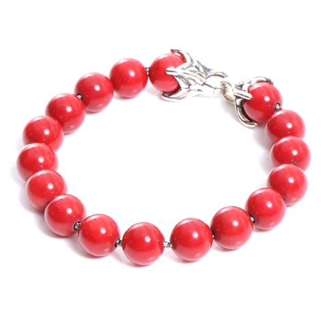 spiritual bead bracelet david yurman sterling silver coral spiritual